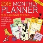 2016 Monthly Planner / Organiser - Family & Pets
